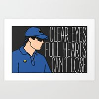 """friday night lights Art Prints featuring Friday Night Lights """"Panthers"""" by DeanFred Rex"""
