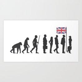 Evolution of the Briton Art Print