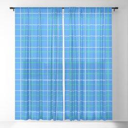 Preppy Blues Sheer Curtain