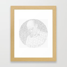 [De]generated ArcFace - Hunter S. Thompson Framed Art Print