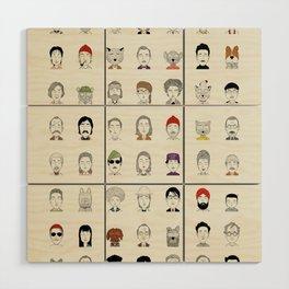Random People Wood Wall Art