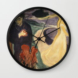 Separation by Edvard Munch Wall Clock