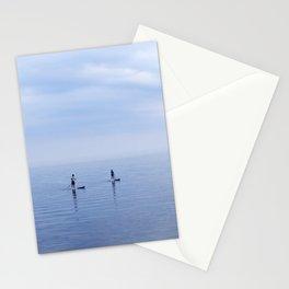 Couple Paddleboarding on Lake Ontario Stationery Cards