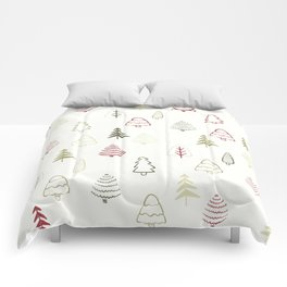 Winter Trees in Snowy Day Comforters