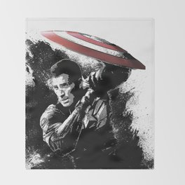 Steve Rogers: Shadow Edition Throw Blanket