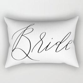 Lettered Bride Rectangular Pillow