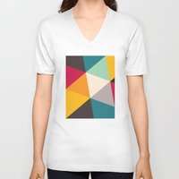 triangles V-neck T-shirts featuring Triangles by Gary Andrew Clarke