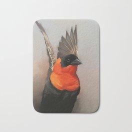 Red Bishop Bird Bath Mat