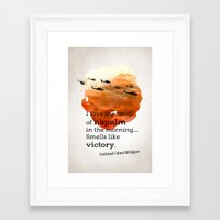 apocalypse now Framed Art Prints featuring Apocalypse now by Nxolab