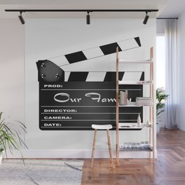 Our Family Clapperboard Wall Mural