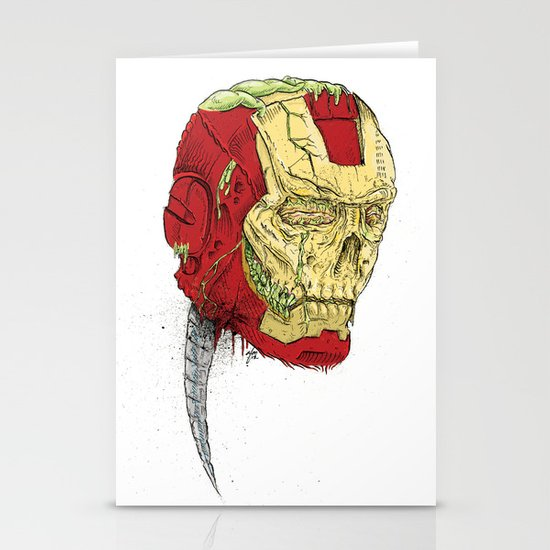 The Death of Iron Man Stationery Cards