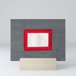 Red White Grey Mini Art Print