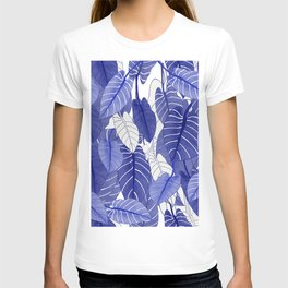 Lovely Leaves in Blue Shades - Spring Summer Mood - Blue and White #society6 #1 T-shirt