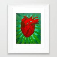anatomical heart Framed Art Prints featuring Anatomical Heart by Vanessa Cirillo