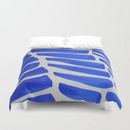 Royal blue Stripes pattern Duvet Cover