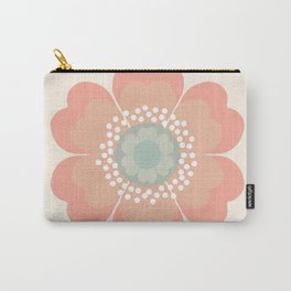 Good Look - 70s retro vibes floral flower power 1970's colorful retro vintage style Carry-All Pouch