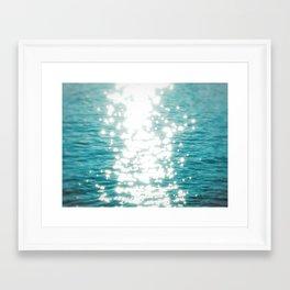 Sun glitter Framed Art Print