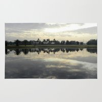 florida Area & Throw Rugs featuring Florida Sunrise by Stephanie Stonato