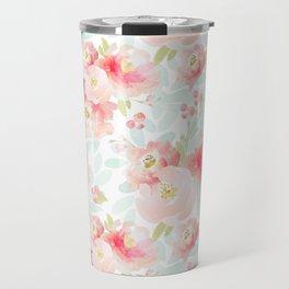 Indy Bloom Design Pink Plush Florals Travel Mug