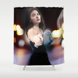 Bang Bang Baby!! Shower Curtain