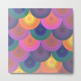 Sinking Sun - Colorway 1 Metal Print