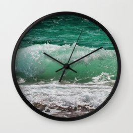 Sea Water Waves Wall Clock