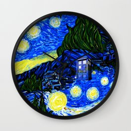 tardis srarry night Wall Clock