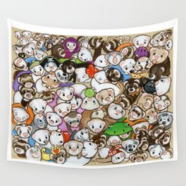 One Hundred Million Ferrets Wall Tapestry