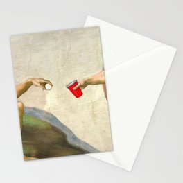 Sistine of Beer Pong Stationery Cards