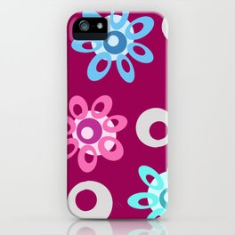 Happy Place Flowers in Pink iPhone Case