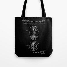 Football Patent - Black Tote Bag