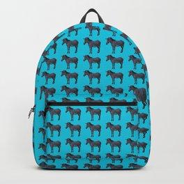Blue Zebra Design Backpack