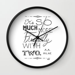 Friendly With Two Wall Clock