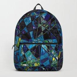 Fragments- Blue Mosaic  Backpack
