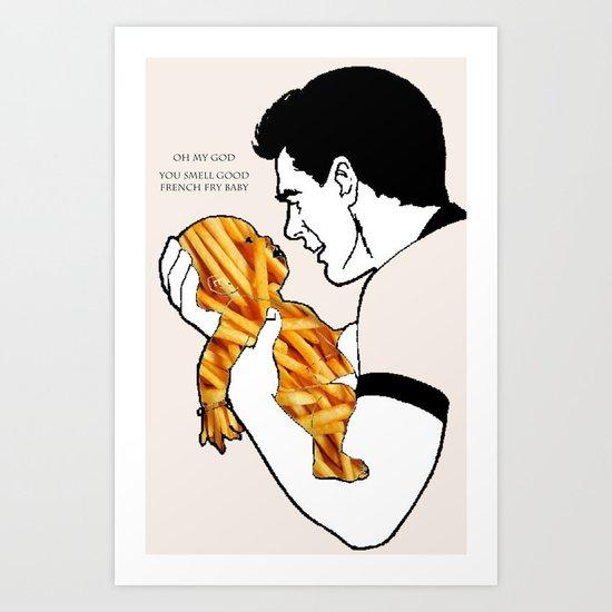 French Fry Baby Art Print