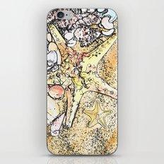 Starfish on the beach  iPhone & iPod Skin
