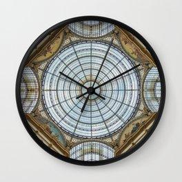 Ceiling of the Galleria Vittorio Emanuele II, Milan Wall Clock