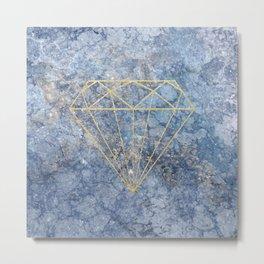 GoldDiamond Marble Metal Print