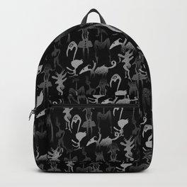 greyscale jungle tribe Backpack