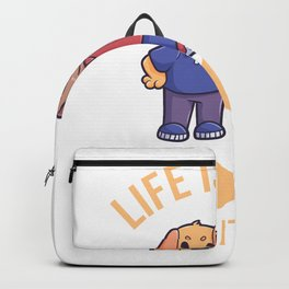 Life Is Good Dogs Makes It Better Friend Backpack