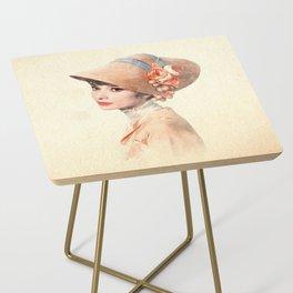 Audrey Hepburn - Eliza Doolittle - Watercolor Side Table