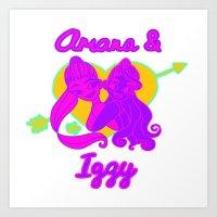 ariana grande Art Prints featuring Ariana Grande Ft. Iggy Azalea #2 by Glopesfirestar