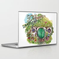 hobbit Laptop & iPad Skins featuring Hobbit hole by Kris-Tea Books