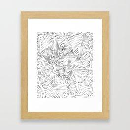 LINES BW Framed Art Print