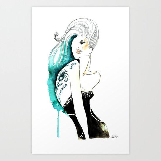 Mina tatto flower Art Print