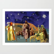 The Christmas Story Shepherds Art Print