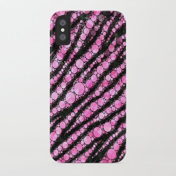 Pink Black Tiger Bling  iPhone Case