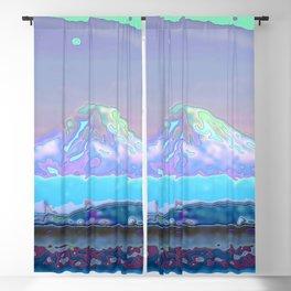 Mt Rainier from Discovery Park Enamel Blackout Curtain