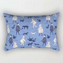 Walking the dogs Rectangular Pillow
