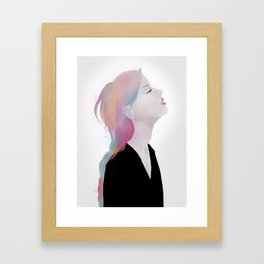 She claimed to be antique roses and lost dreams Framed Art Print